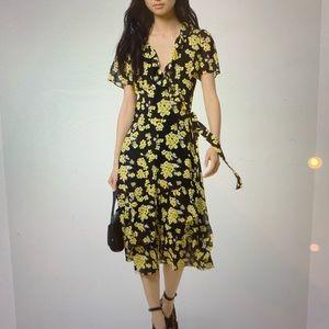 Michael Kors floral wrap dress
